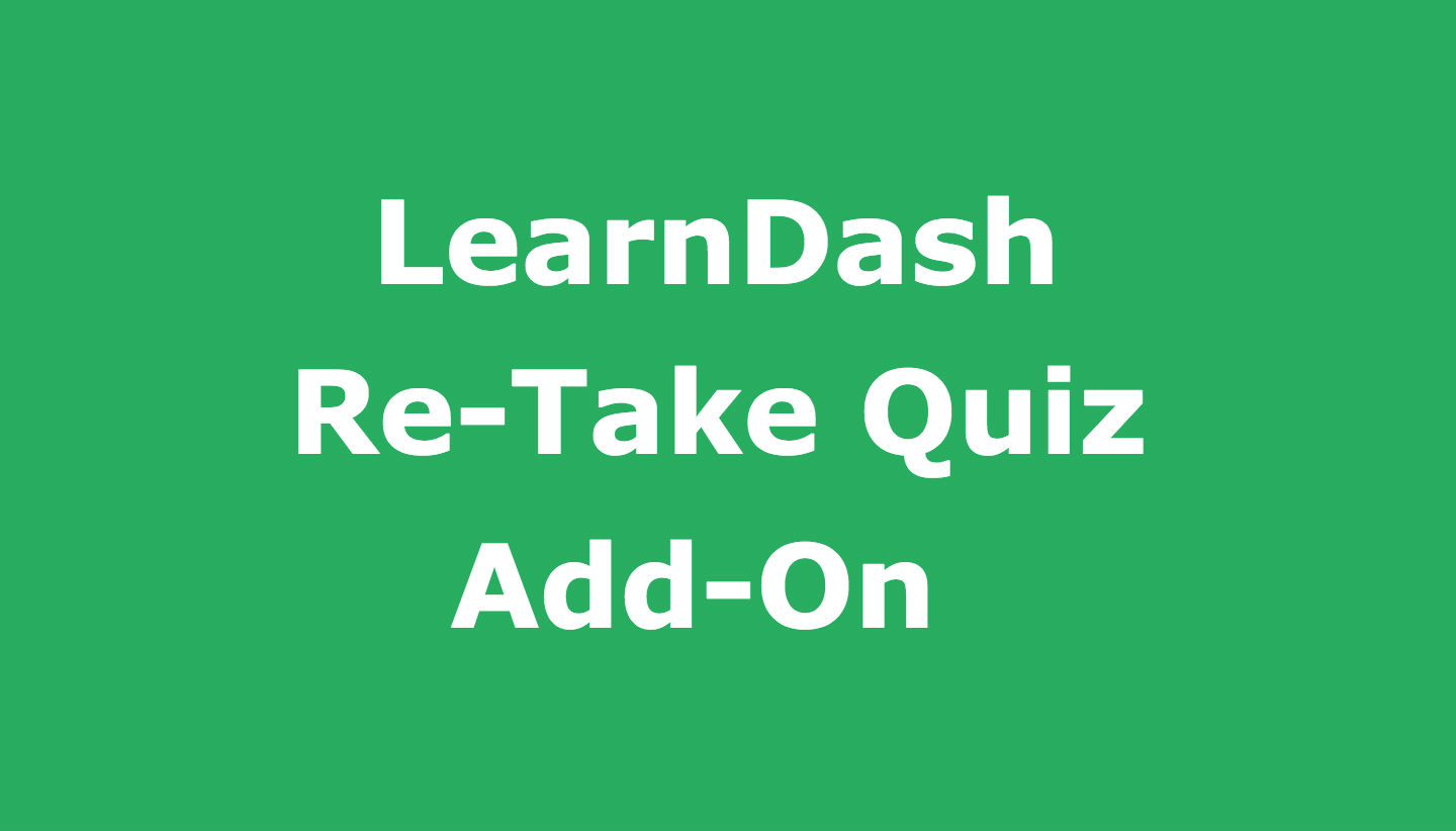Re-take Quiz Plugin